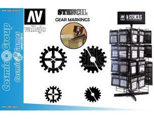 STENCIL STSF001 GEAR MARKINGS 125 ACCESSORI PER MODELLISMO VALLEJO