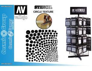 STENCIL STSF002 CIRCLE TEXTURE ACCESSORI PER MODELLISMO VALLEJO