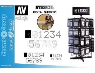 STENCIL STSF004 DIGITAL NUMBERS ACCESSORI PER MODELLISMO VALLEJO