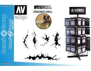 STENCIL STTX001 CRACKED WALL ACCESSORI PER MODELLISMO VALLEJO