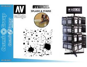 STENCIL STTX003 SPLASH & STAINS ACCESSORI PER MODELLISMO VALLEJO