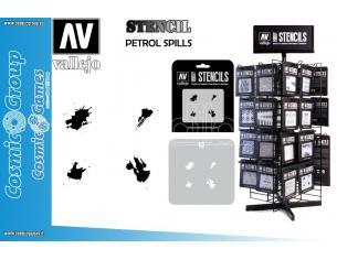 STENCIL STTX004 PETROL SPILLS ACCESSORI PER MODELLISMO VALLEJO