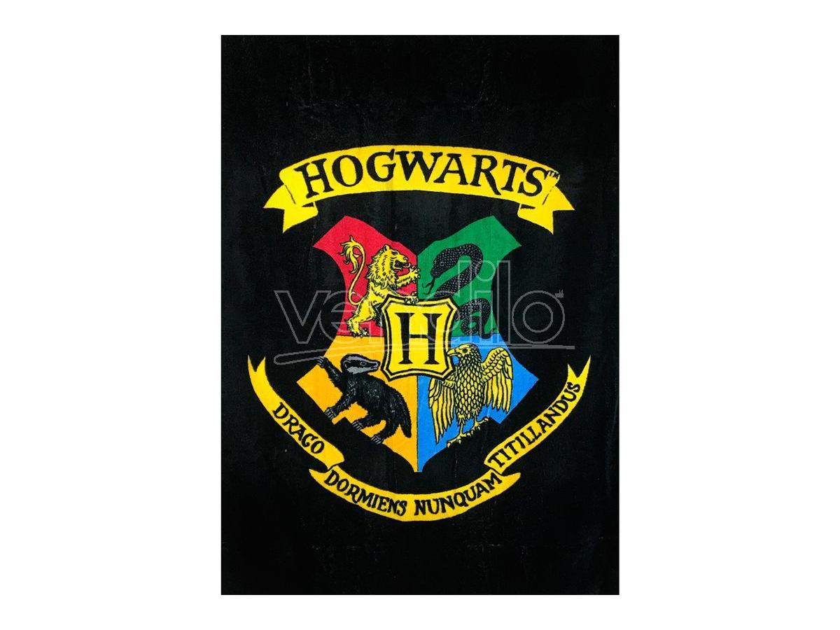 Harry Potter Asciugamano Nero con Stemma Hogwarts Groovy