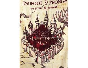 Harry Potter Marauders Map cotton towel Groovy