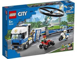 LEGO CITY POLIZIA 60244 TRASPORTATORE DI ELICOTTERI DELLA POLIZIA BOX DAMAGED