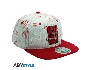 One Punch Man - Snapback Cap - Beige & Red - Punches