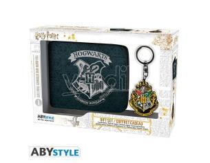 "Harry Potter Set Portafoglio  + Portachiavi con Stemma ""Hogwarts"""