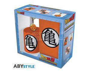 "Dragon Ball - Pck Mug 320ml + Portachiavi + Agenda ""kame Symbol"""