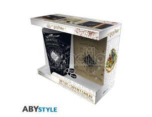 """Harry Potter - Bicchiere XXL + Spilla + Agenda da Tasca """"Mappa Del Malandrino"""""""
