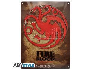 "Game Of Thrones - Metallo Plate ""targaryen"" (28x38)"