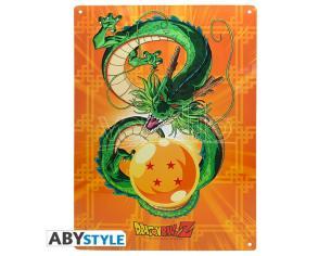 """Dragon Ball - Metallo Plate """"shenron"""" (28x38) Con Hook"""