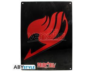 "Fairy Tail - Metallo Plate ""emblem"" (28x38) Con Hook"
