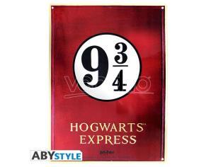 "Harry Potter - Metallo Plate ""binario 9 3/4"" (28x38) Con Hook"