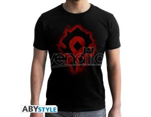 World Of Warcraft - Tshirt Horde - Man Ss Black - New Fit Small
