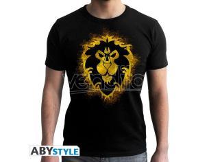 World Of Warcraft - Tshirt Alliance - Uomo Ss Nera - New Fit Medium