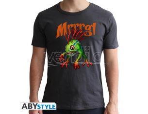 World Of Warcraft - Tshirt Murloc - Uomo Ss Grigio Scuro - New Fit Large