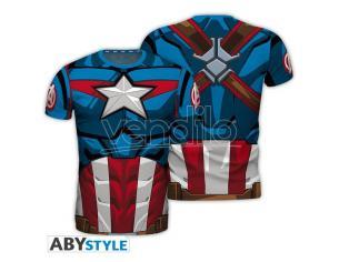 "Marvel - Replica T-shirt ""captain America"" Uomo Extra Large"