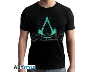 Assassin's Creed - Tshirt - Valhalla Crest - Man Ss Black - New Fit Medium
