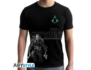 Assassin's Creed - Tshirt - Viking - Man Ss Black Large