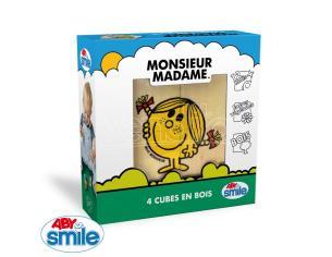 Mr. Men Little Miss - Wood - 4 Cubes