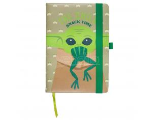 Stars Wars The Mandalorian Yoda Child A5 faux-leather notebook CerdÁ