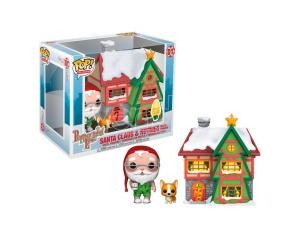 POP figure Holiday Santa House with Santa & Nutmeg Funko