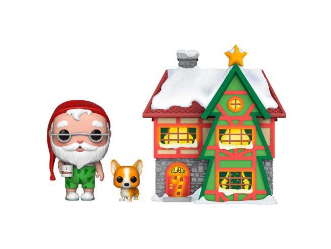 POP figure Holiday Santa House with Santa & Nutmeg Funko
