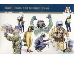 Italeri IT1246 NATO PILOTS AND GROUND CREW KIT 1:72 Modellino