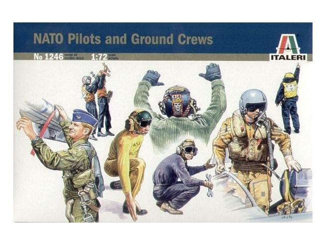 Italeri It1246 Nato Pilots E Ground Crew Kit 1:72 Modellino