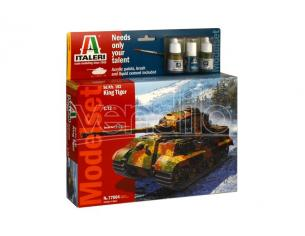 Italeri IT77004 SD.KFZ 182 KING T.(MODEL SET) KIT 1:72 Modellino