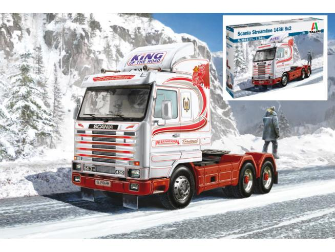 Italeri IT3944 SCANIA STREAMLINE 143 H 6x2 KIT 1:24 Modellino