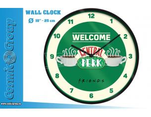 FRIENDS CENTRAL PERK WALL CLOCK OROLOGIO PYRAMID INTERNATIONAL