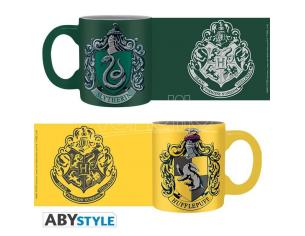 Harry Potter Set 2 Mini Tazze Caffè Espresso 110 ml Serpeverde e Tassorosso