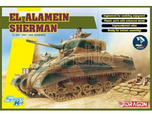DRAGON D6617 EL ALAMEIN SHERMAN W/MAGIC TRACKS KIT 1:35 Modellino