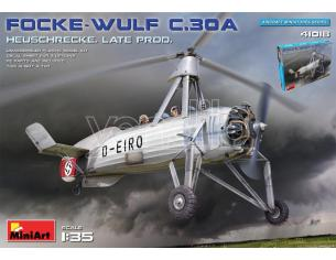 MINIART MIN41018 FOCKE-WULF FW C30A HEUSCHRECKE LATE PROD.KIT 1:35 Modellino