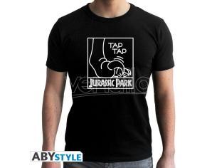 "Jurassic Park - Tshirt ""tap Tap"" Uomo Ss Nera - New Fit Large"