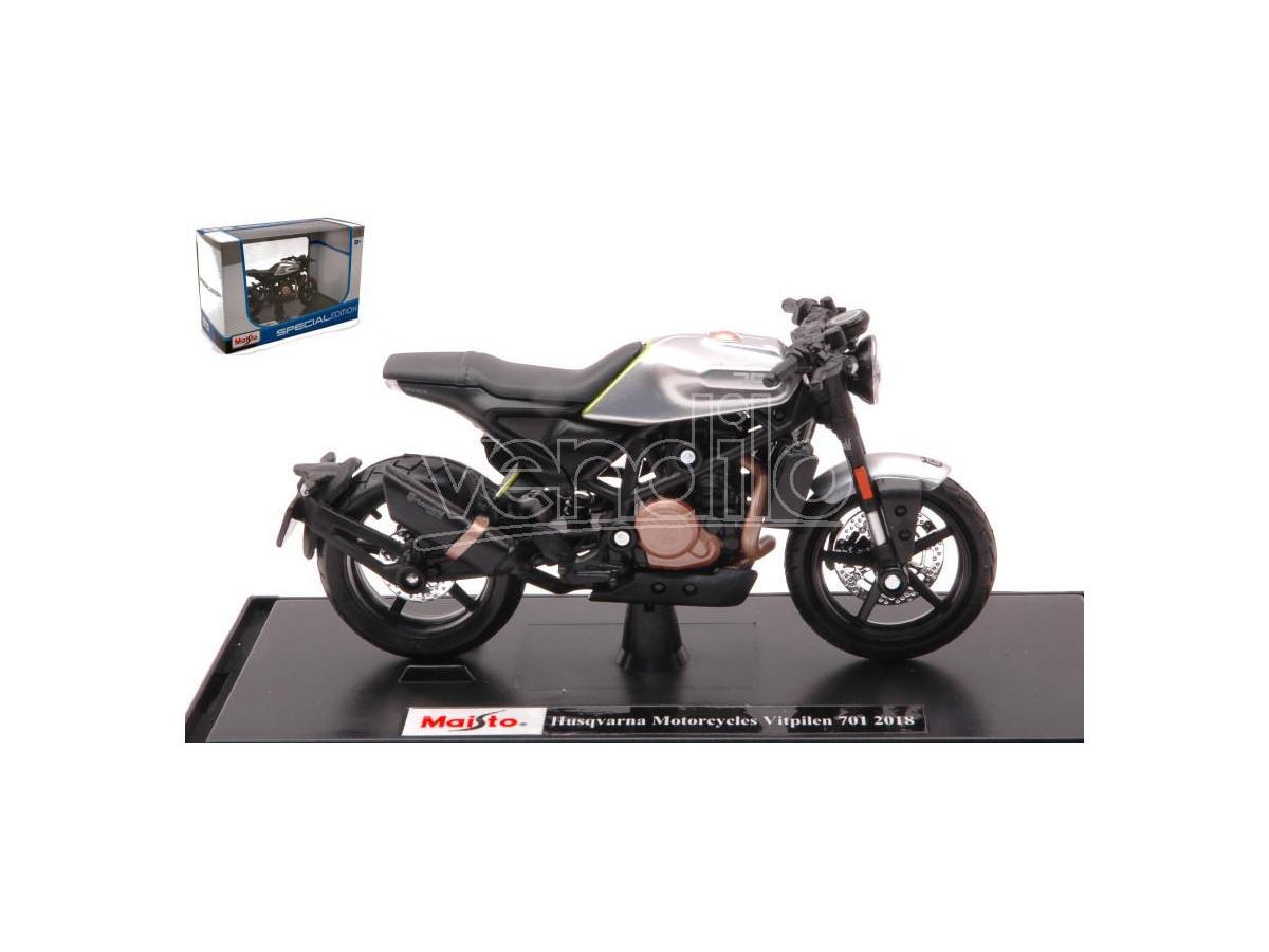 Maisto MI18854 HUSQVARNA MOTORCYCLES VITPILEN 701 2018 1:18 Modellino