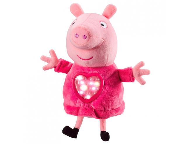 Peppa Pig Pijama Party Peluche Con Suono 18cm Bandai