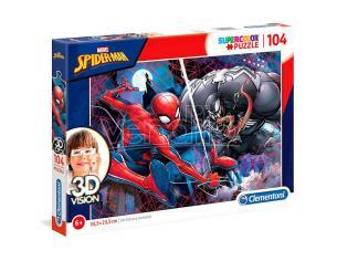 Marvel Spiderman 3D Vision puzzle 104pcs Clementoni