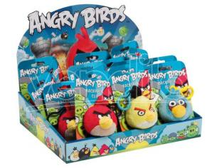 PELUCHE A CLIP ANGRY BIRDS ASSORTITI PELUCHES