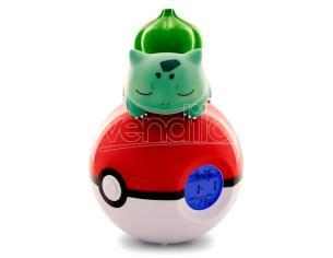 Pokemon Bullbasaur Pokeball Lampada Alarm Clock Teknofun