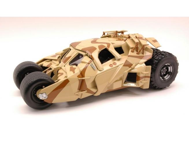 Hot Wheels Hwbcj76 Batmobile The Dark Knight Rises Camouflage Bicchiere 1:18 Modellino