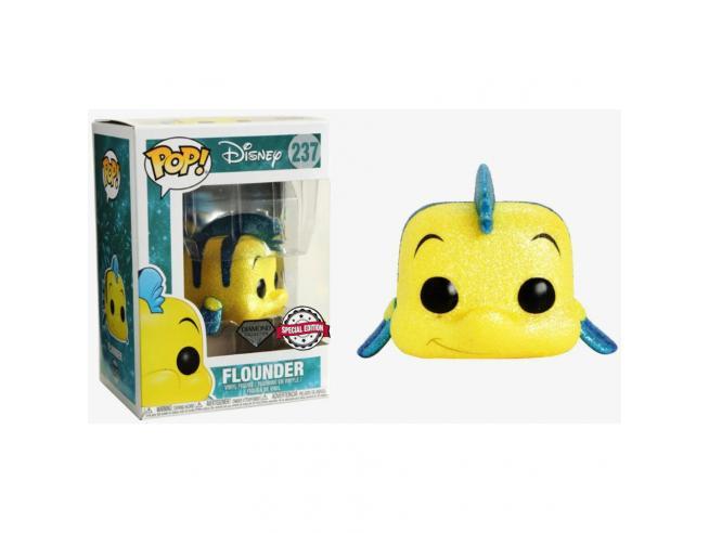 Pop Figura Disney La Sirenetta Flounder Glitter Esclusiva Funko