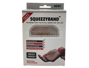 Transparent Adjustable Gel Dispenser Adult Bracelet Squeezyband