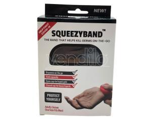 Black Adjustable Gel Dispenser Adult Bracelet Squeezyband