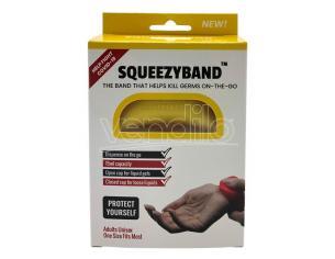 Yellow Adjustable Gel Dispenser Adult Bracelet Squeezyband