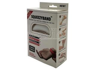 White Adjustable Gel Dispenser Adult Bracelet Squeezyband