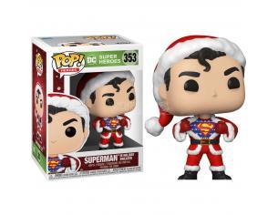 DC Comics Natale Funko POP Vinile Figura Superman Con Vestito Babbo Natale 9cm