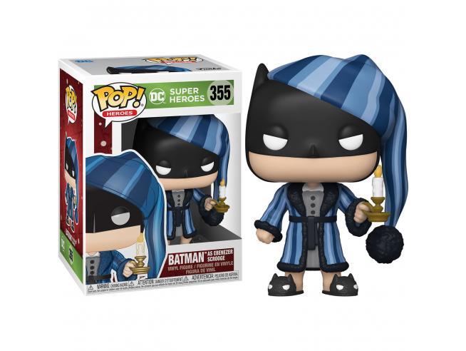 DC Comics Natale Funko POP Super Eroi Vinile Figura Batman Vestito da Scrooge 9cm