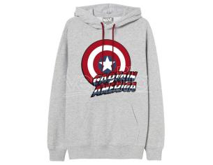 Marvel Captain America Adulto Felpa Con Cappuccio Marvel
